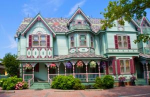 image of victorian houses cape may