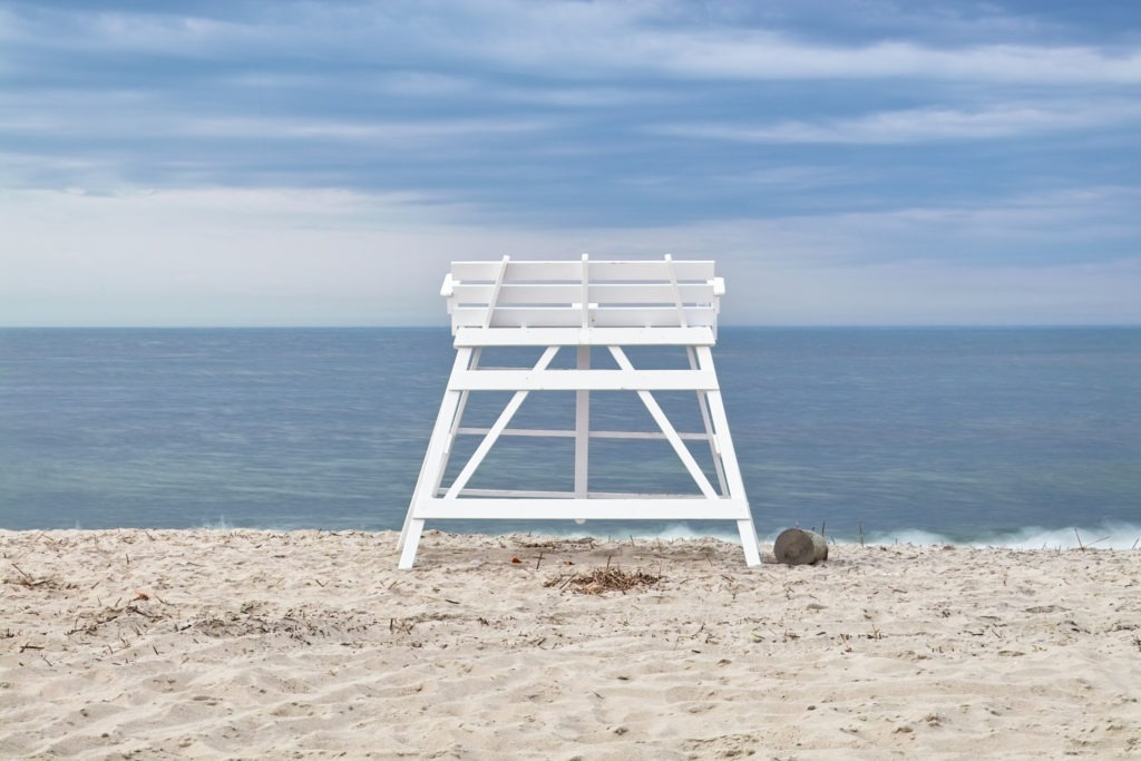 image of lifeguard stand cape may beach
