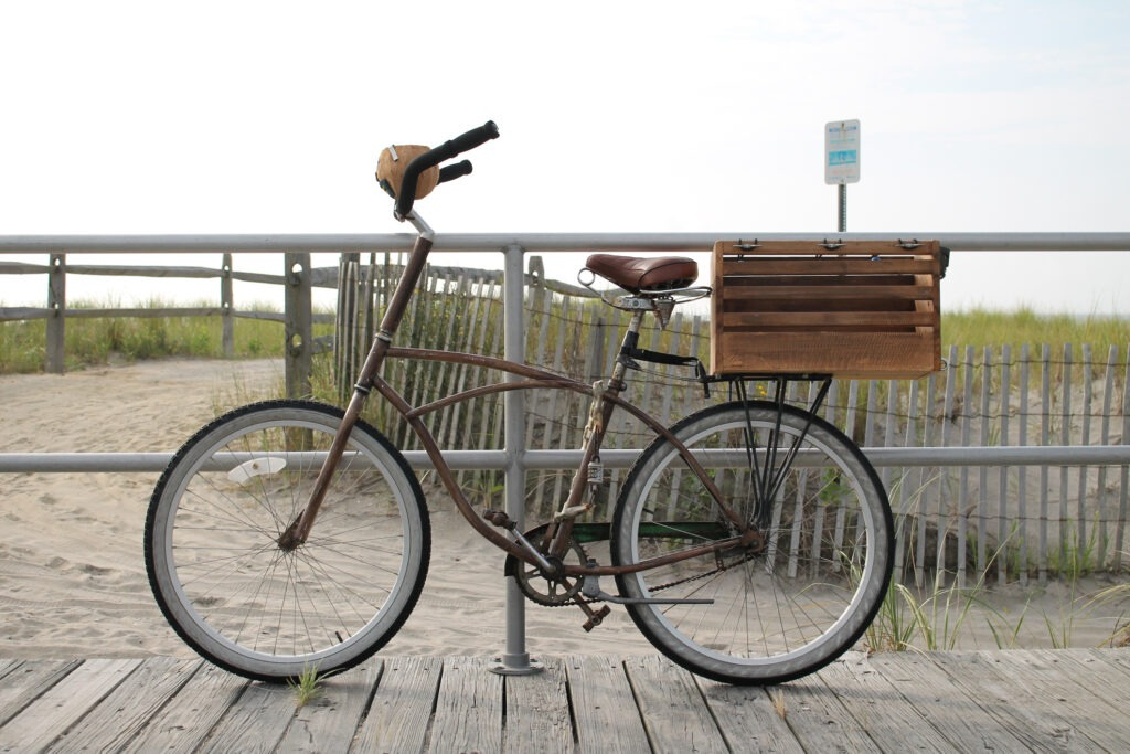 image of biking in cape may